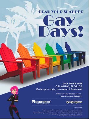 Clever GayDays 2009 ad.......